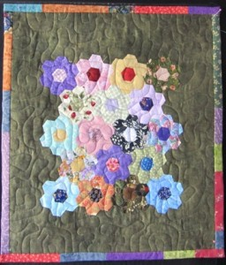Scrap Hex  flower mini Quilts